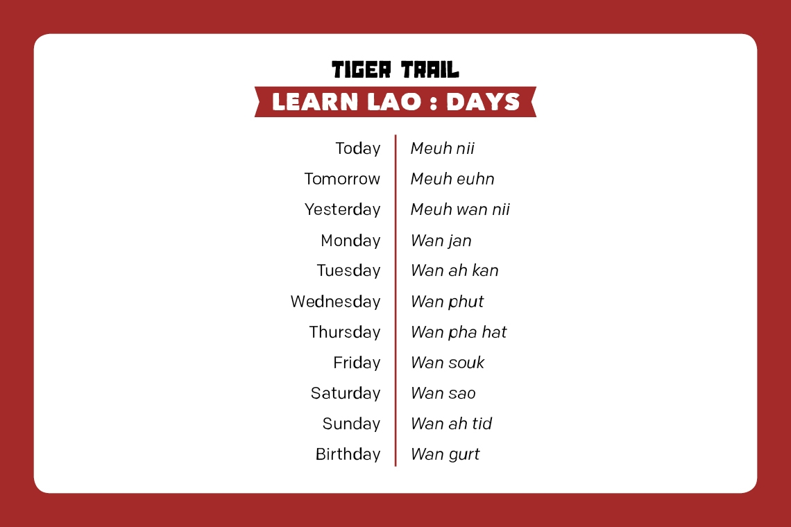 Learn Lao : Days