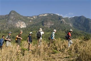 Luang Prabang adventure tour, Trek and Elephant