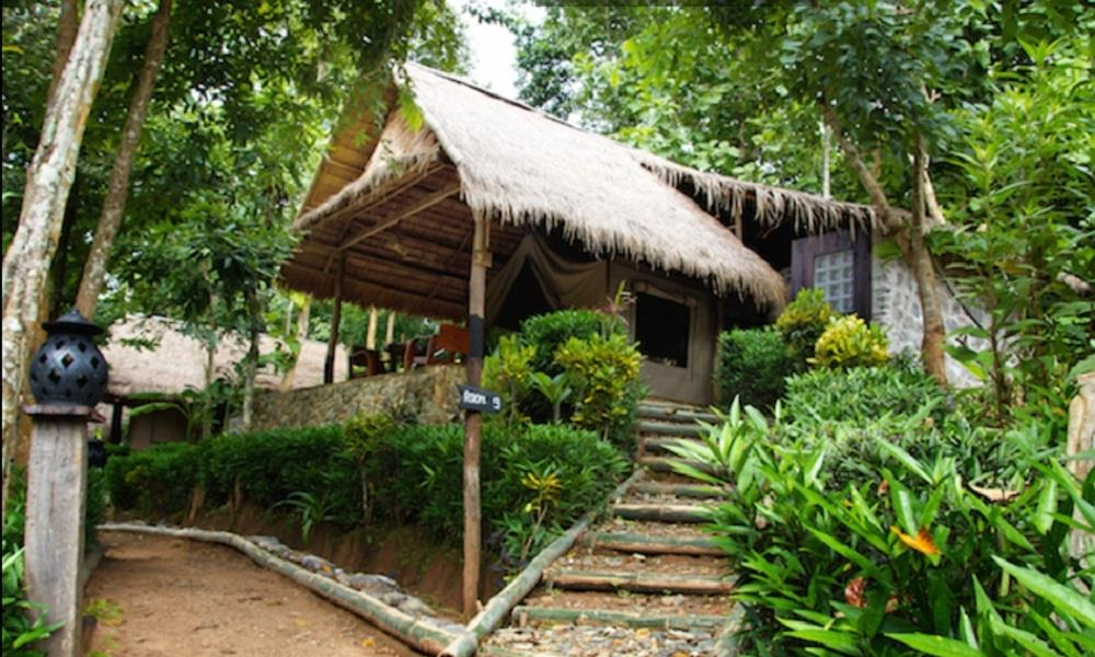 tentes du kamu Lodge Laos
